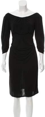 Diane von Furstenberg Quarter-Sleeve Midi Dress