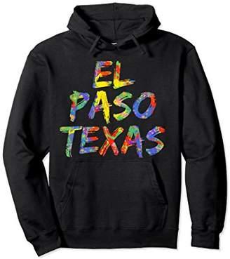 El Paso Texas Hoodie Colorful Rainbow TX Pullover Sweatshirt