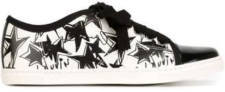 Lanvin star print toe cap sneakers