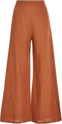 Faithfull Scelsi Cropped Linen Wide-Leg Pants