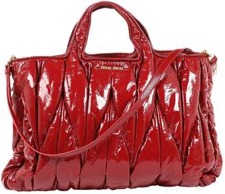 Miu Miu Matelasse Red Patent leather Handbag