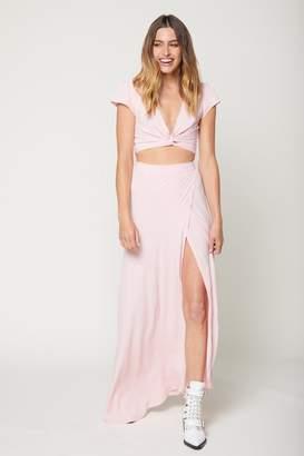 Flynn Skye Thats A Wrap Crop Top Flutter - Cotton Candy Pink
