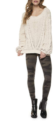 Dex Crew Neck Wide Slv Cable Knit Sweater