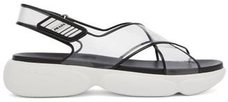 Prada Cloudbust Sole Plexi Sandals - Womens - Black Multi