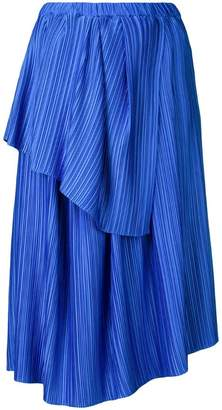 Christian Wijnants plisse tiered skirt