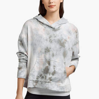 James Perse VINTAGE FLEECE TIE DYED CROPPED HOODIE