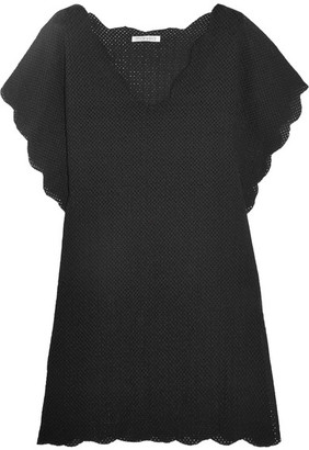 Marysia - Shelter Island Crocheted Cotton Tunic - Black $380 thestylecure.com