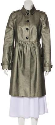 Burberry Metallic Knee-Length Coat