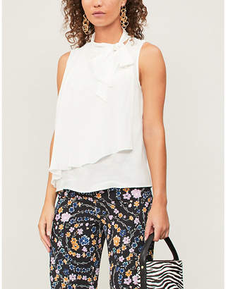 See by Chloe Neck-tie satin and silk-blend top