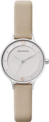Skagen Women's Anita Nude Leather Strap Watch 30mm