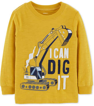 Carter's Baby Boys Dig It-Print Cotton T-Shirt