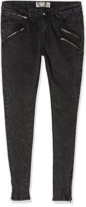 boohoo Women's Multi-Zip Skinny Jeans