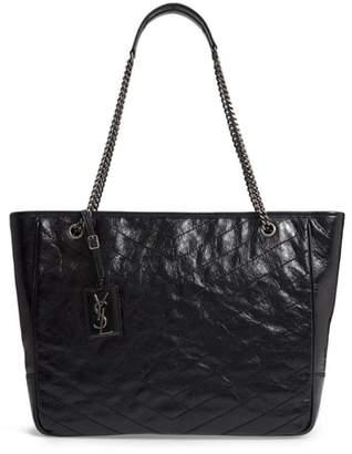 Saint Laurent Large Niki Calfskin Leather Shopper