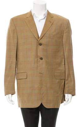 Burberry Glen Plaid Wool Blazer