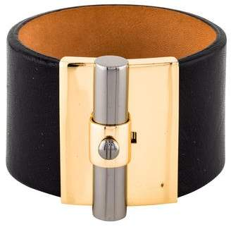 Pre Owned At Therealreal Reed Krakoff T Bar Leather Cuff