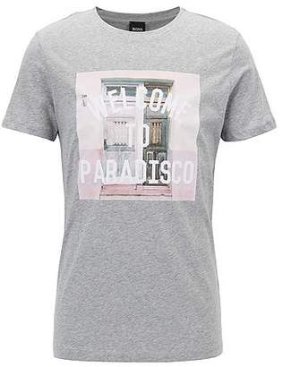 HUGO BOSS Relaxed-fit graphic T-shirt in single-jersey cotton