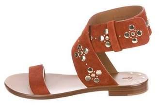 Frye Suede Embellished Sandals