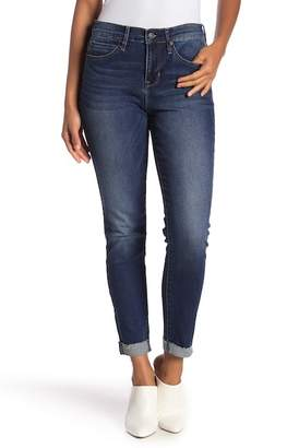 Nicole Miller High Rise Roll Cuff Skinny Jeans
