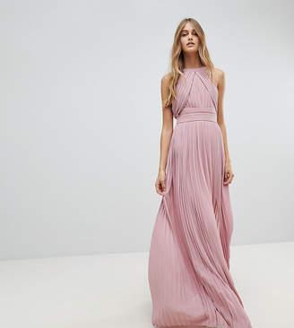 TFNC Pleated Maxi Bridesmaid Dress