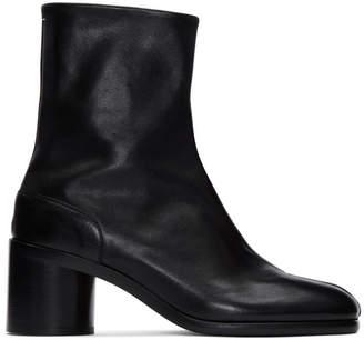 Maison Margiela Black Leather Tabi Boots