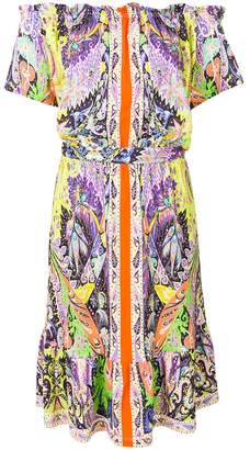 Etro printed off-the-shoulder dress