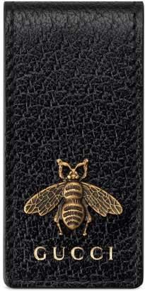 Gucci Animalier leather money clip