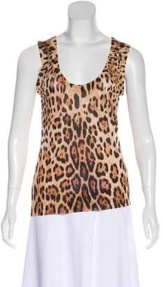 Dolce & Gabbana Animal Print Sleeveless Top