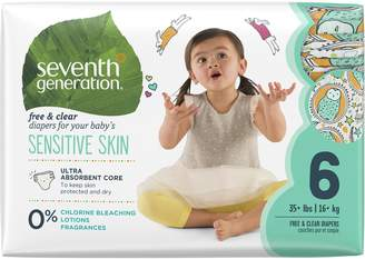 Seventh Generation Free and Clear Sensitive Skin Baby Diapers with , Size, 20 Count (Pack of 5)