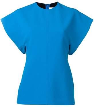 Victoria Victoria Beckham turquoise short sleeve top
