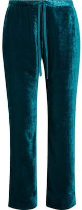 Mira Mikati Velvet Straight-leg Pants - Teal