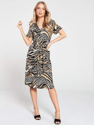 Wallis Mixed Animal Print Shirt Dress