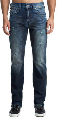 True Religion MENS CONTRAST STITCH RICKY STRAIGHT JEAN W/ FLAP