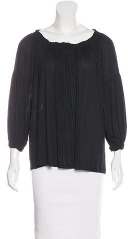 prada Prada Three-Quarter Sleeve Knit Top
