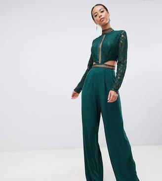 99da762ad0 Asos Tall DESIGN Tall premium cut out lace jumpsuit