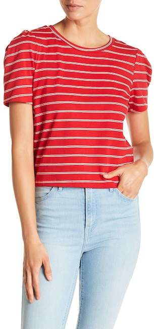 Stripe Puff Sleeve Tee