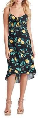 Jessica Simpson Shana Tie-Front Midi Dress