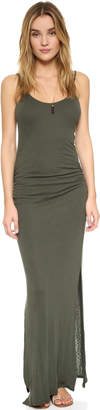 Three Dots Rosina Shirred Maxi Dress $138 thestylecure.com