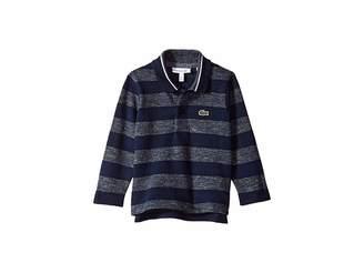 Lacoste Kids Long Sleeve Semi Fancy Striped Heather Pique Polo (Infant/Toddler/Little Kids/Big Kids)