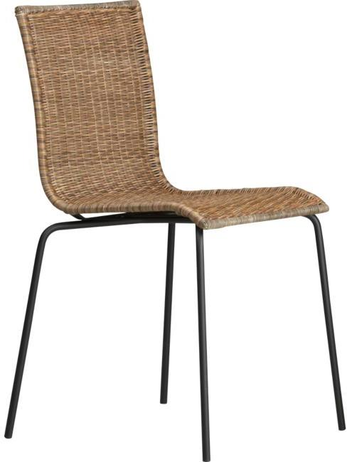 Rattan Side Chairs Set of Four