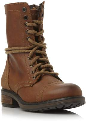 Steve Madden TROOPA 20 SM - Leather Lace Up Calf Boot