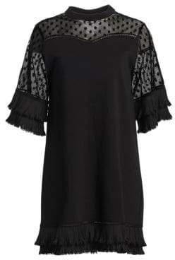 McQ Lace Inset T-Shirt Dress