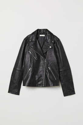 H&M Leather Biker Jacket - Black