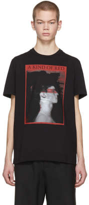 Neil Barrett Black A Kind of Red T-Shirt