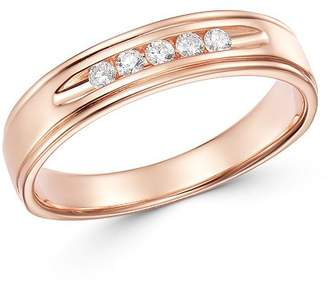 Bloomingdale's Men's Diamond Five-Stone Band in 14K Rose Gold, 0.15 ct. t.w. - 100% Exclusive