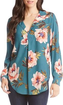 Karen Kane Floral Print Shirt
