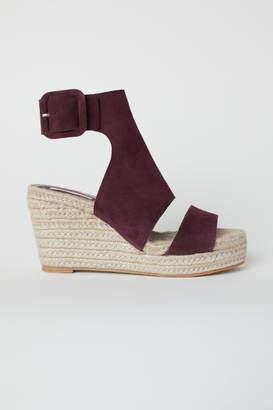 H&M Wedge-heel Sandals - Red