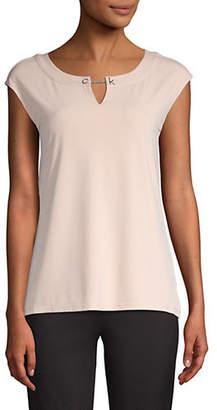 Calvin Klein Cap-Sleeve Knit Top
