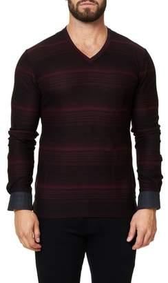Maceoo Stripe Long Sleeve V-Neck