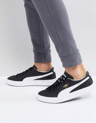 Puma Breaker Leather Sneakers In Black 36607801