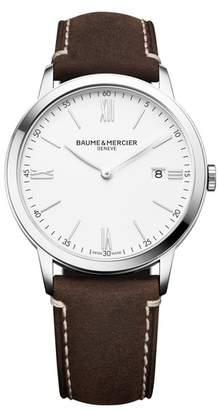 Baume & Mercier BAUME AND MERCIER Leather Strap Watch, 40mm
